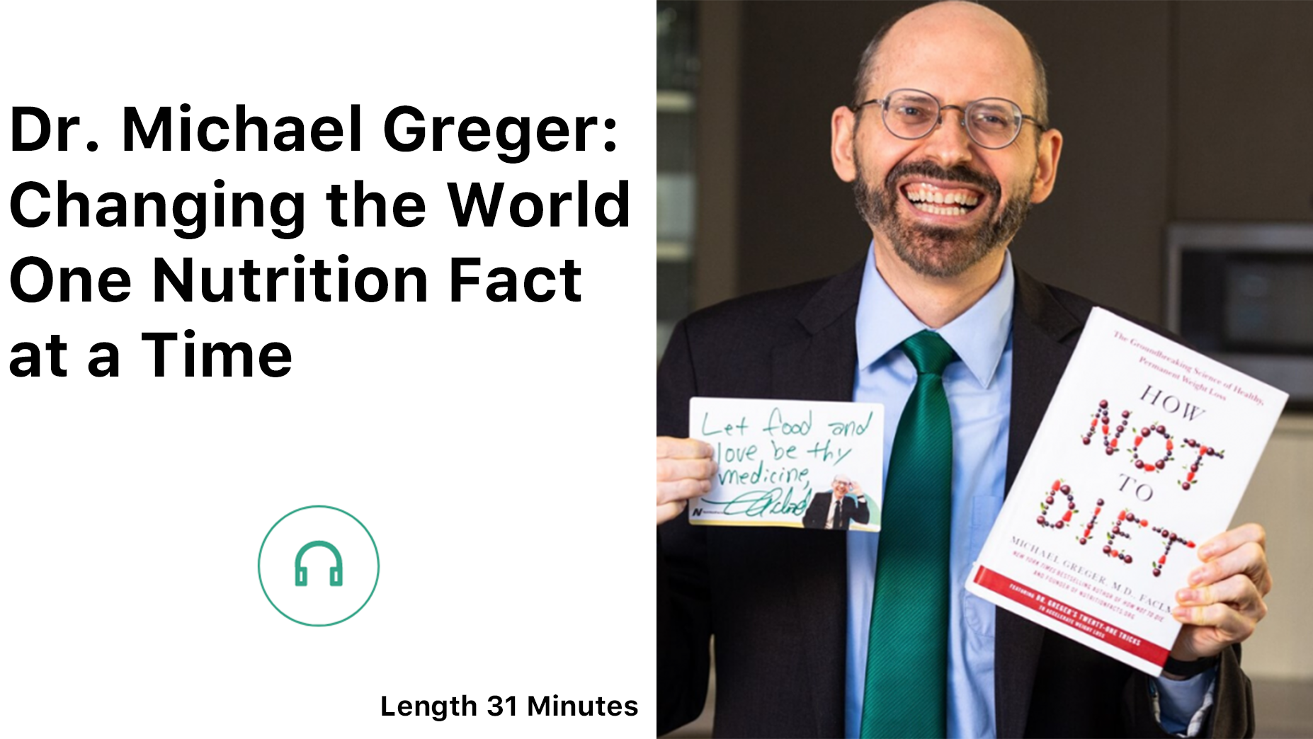 Dr. Michael Greger being interviewed for the Healthy Human Revolution Podcast